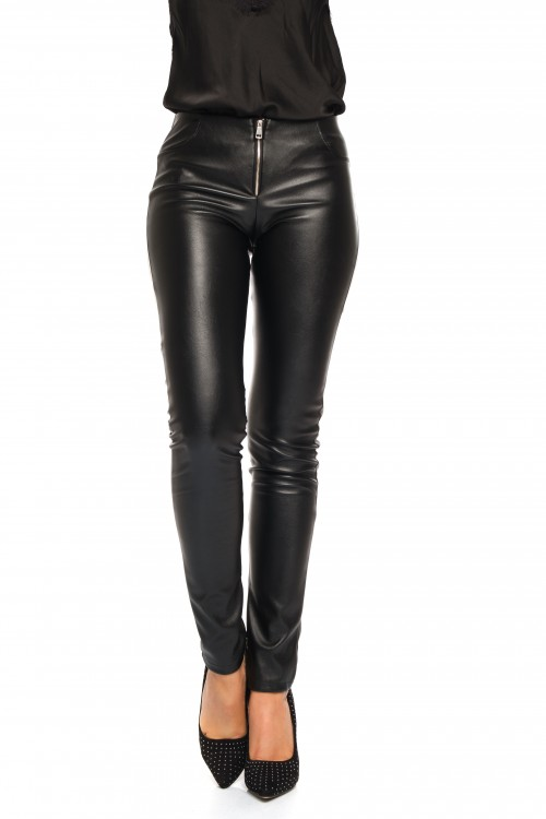 Pantalon jegging simili cuir