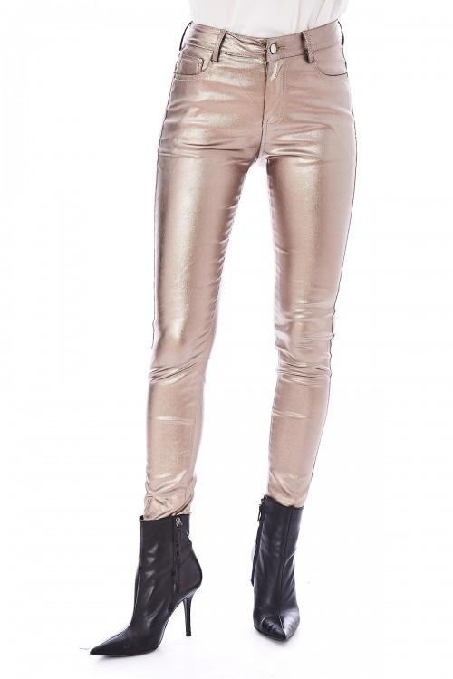 Pantalon slim brillant