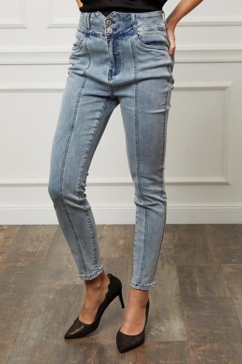 Jean taille haute slim