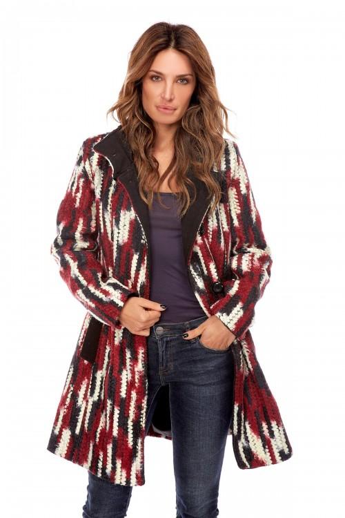 Manteau en laine double boutonnage