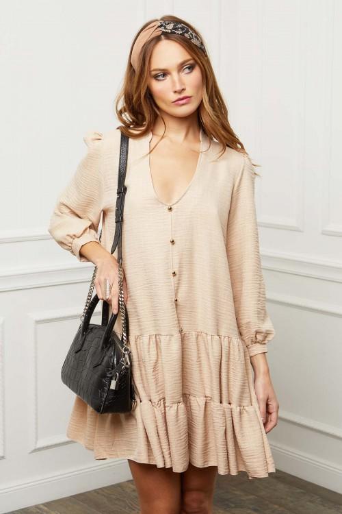 Robe trapèze gaufrée