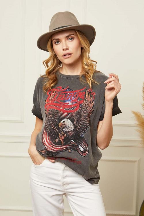 T-shirt imprimé aigle