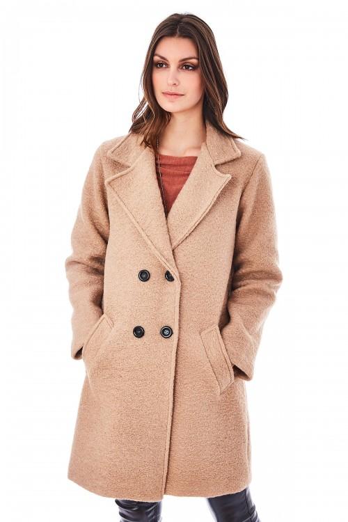 Manteau long croisé