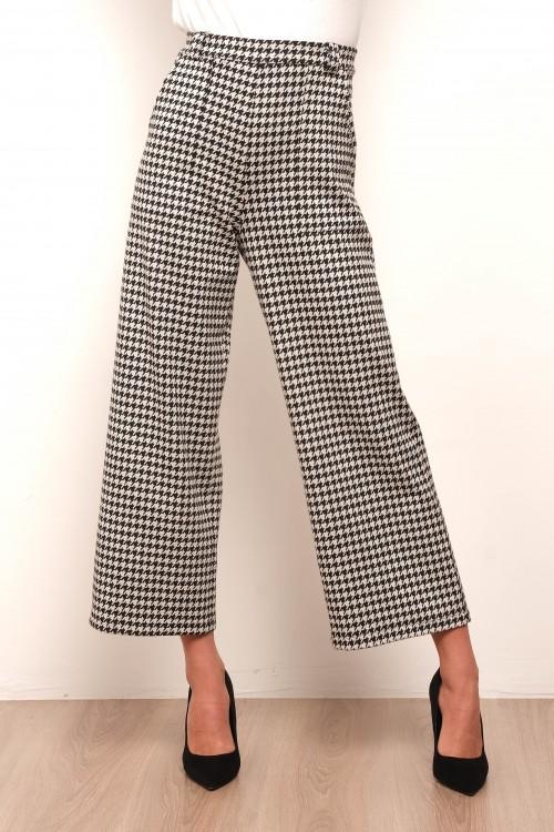 Pantalon imprimé taille haute