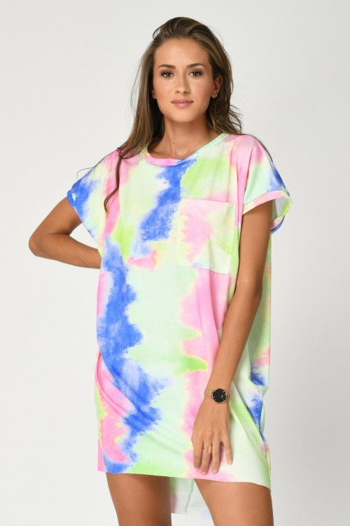Robe tunique tie and die