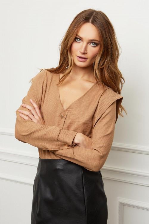 blouse boutonnée col V