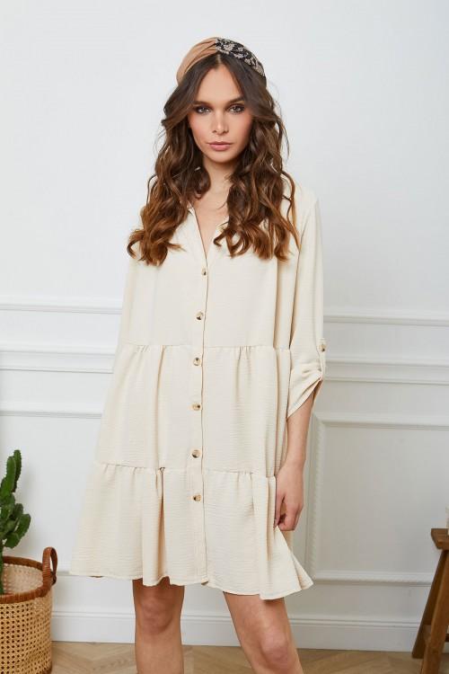 Robe chemise longue à panneaux